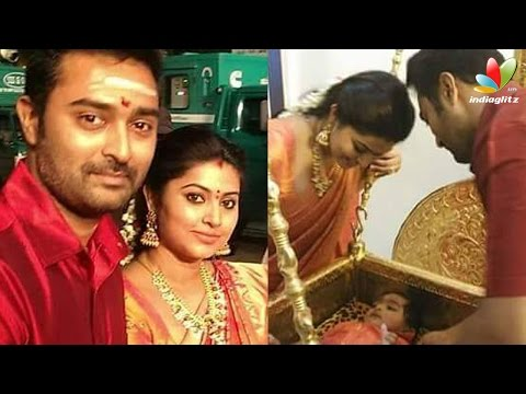 Sneha and Prasanna pulling Golden Chariot in Palani Temple | Hot Tamil Cinema News