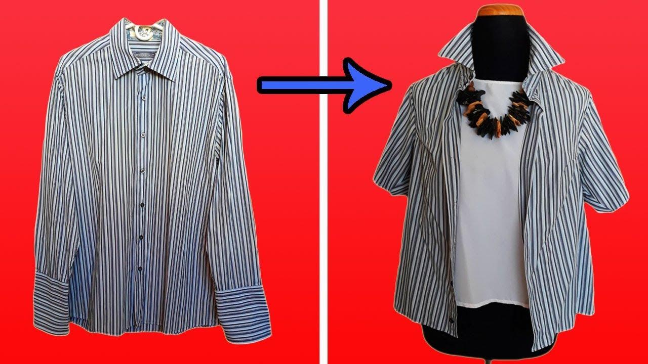 Resultado de imagen para Transformar Una Camisa De Hombre A Blusa Súper Femenina.