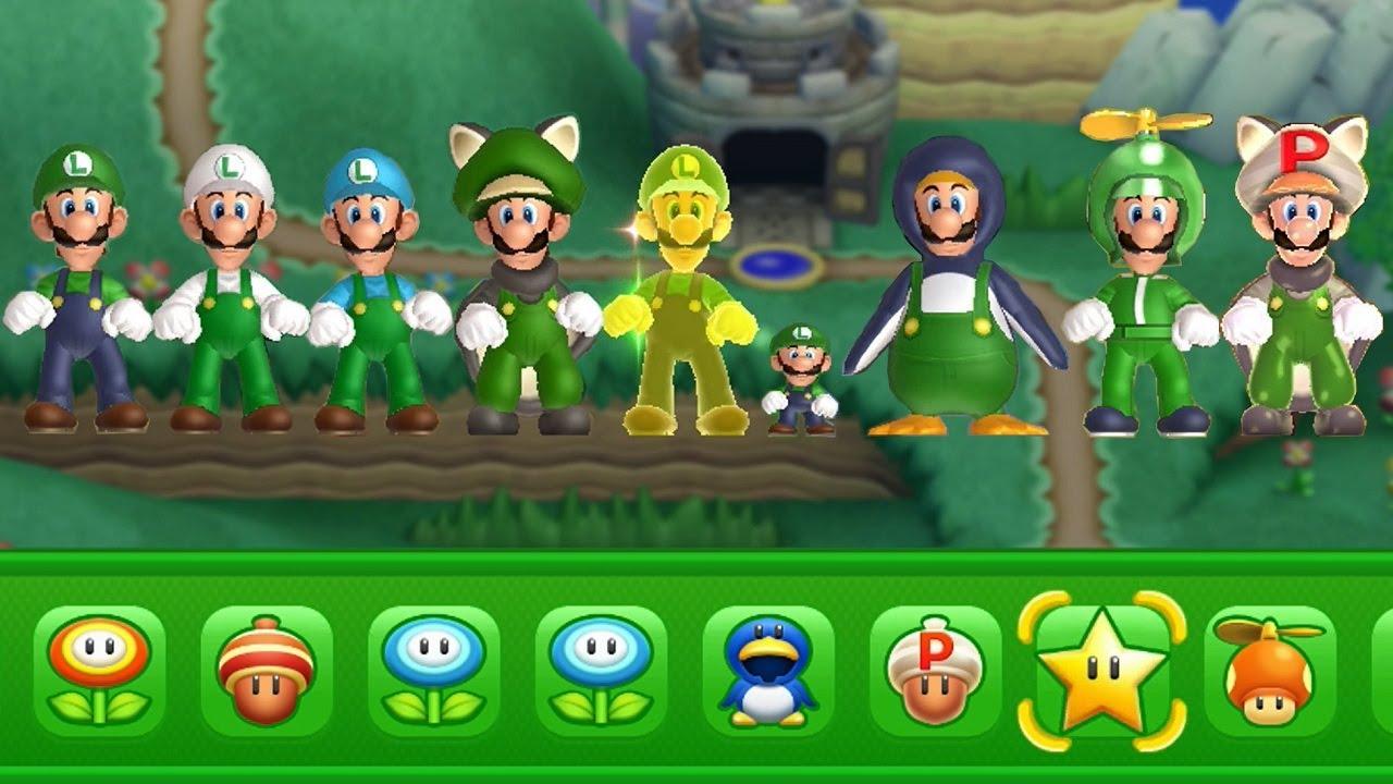 New Super Luigi U All Power Ups Youtube