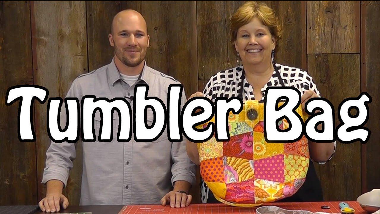 Tumbler Bag Sew A Fun Purse With Charm Packs Youtube
