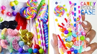 Candy Phone Case - Polymer Clay - How To Make Pixie Sticks, Sour Gummy Worm Deco Pieces