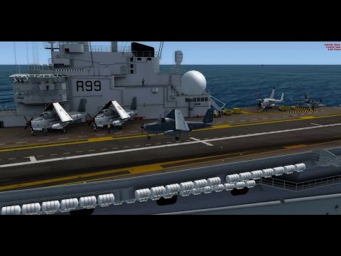 Landing Breguet Alizé on  Foch carrier   P3D