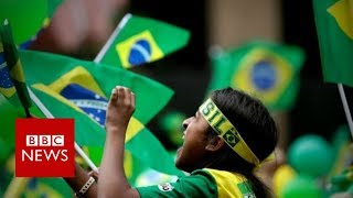 Brazil election: Jubilation and despair among rival supporters - BBC News
