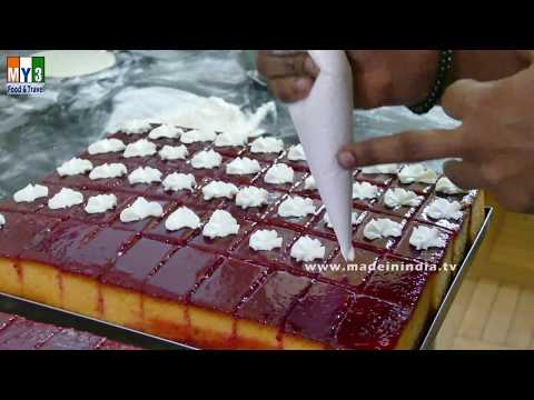 MAKING OF SWEET CAKE | CAKE STYLE | INDIAN BAKERY FODOD | STREET FOODS IN INDIA |