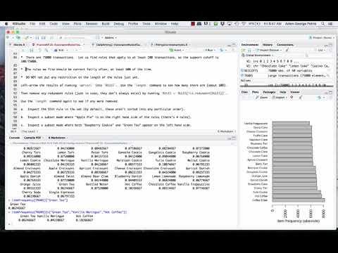 Analytics Lab 6 - Association Rules, Market Basket Analysis