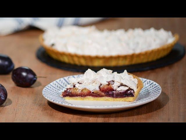 Изображение Сливовый пирог с безе