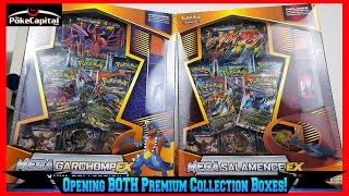 Pokemon Cards - Opening BOTH New Premium Collection Boxes featuring Mega Garchomp & Salamence EX