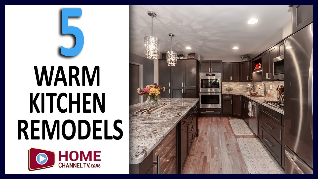 Kitchen Remodel Ideas - 5 Designs with Warm Kitchen Cabinets - Interior Design Before & After