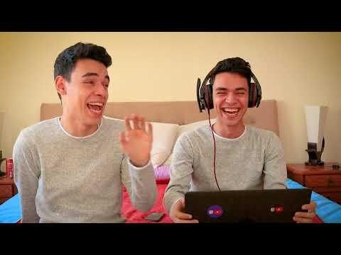 تحدي السماعات مع اخويا ( موتنا ضحك 😂) - EL Twins 2