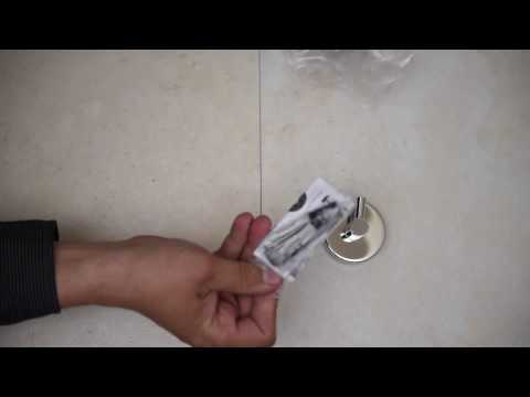 How to install bath accessories with screws