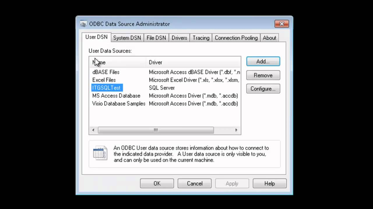 How to Configure ODBC to Access a Microsoft SQL Server