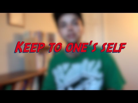 Keep to one's self - W24D5 - Daily Phrasal Verbs - Learn English online free video lessons