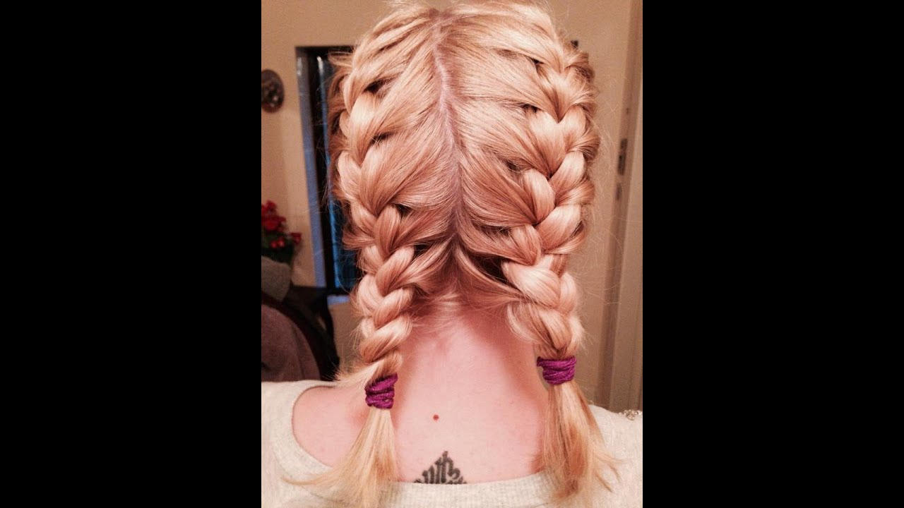 Make up my mind self french braid pigtails tutorial youtube ccuart Choice Image