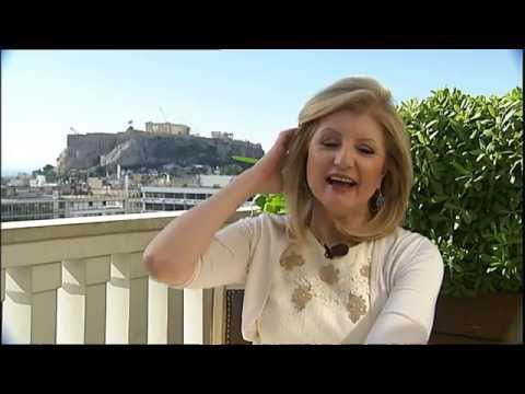 Arianna Huffington returns to Greece
