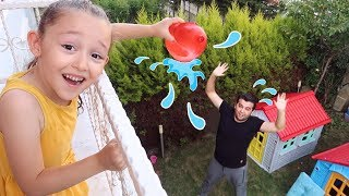 Öykü and Dad Play the Garden, Kids Family fun - Oyuncak Avı