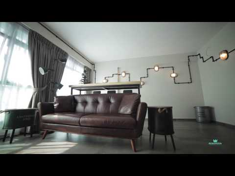 Interior Design Singapore | Industrial home (Le Interi)