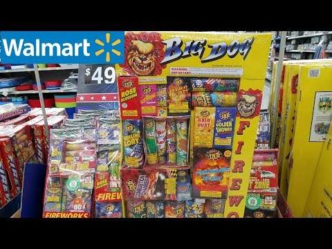Shop WITH ME WALMART FOURTH OF JULY DECOR TNT FIREWORKS JUNE 2018