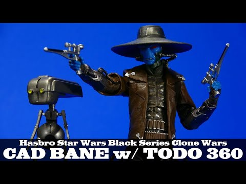 Star Wars Cad Bane And Todo 360 Clone Wars Black Series European Exclusive Action Figure Review