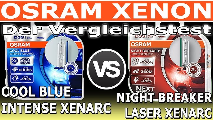 Osram Xenon Cool Blue Intense Xenarc Vs Night Breaker Laser Xenarc Der Vergleich Youtube