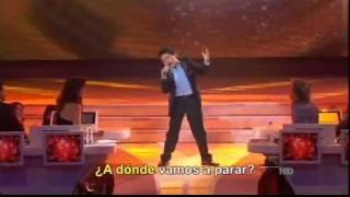 """MIGUEL ANGEL Cantando """"A donde vamos a parar""""  en Pequeños Gigantes"""