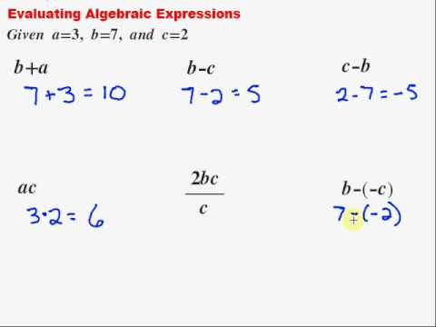 how to evaluate the expression