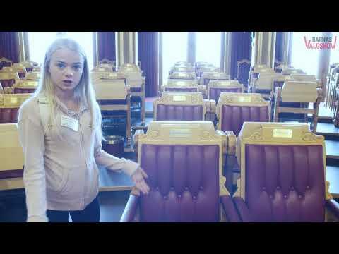Barnas Valgreporter Eline besøker Stortinget