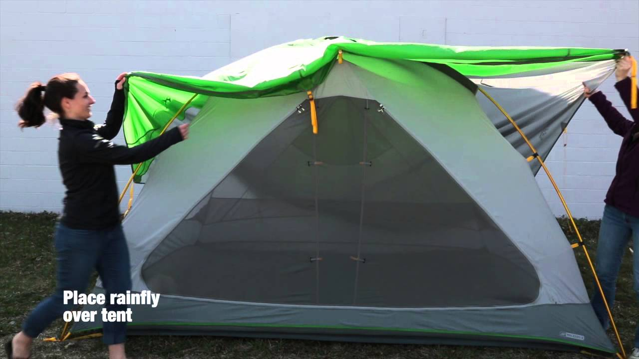 How to set up the EMS Big Easy 6 Tent & How to set up the EMS Big Easy 6 Tent - YouTube