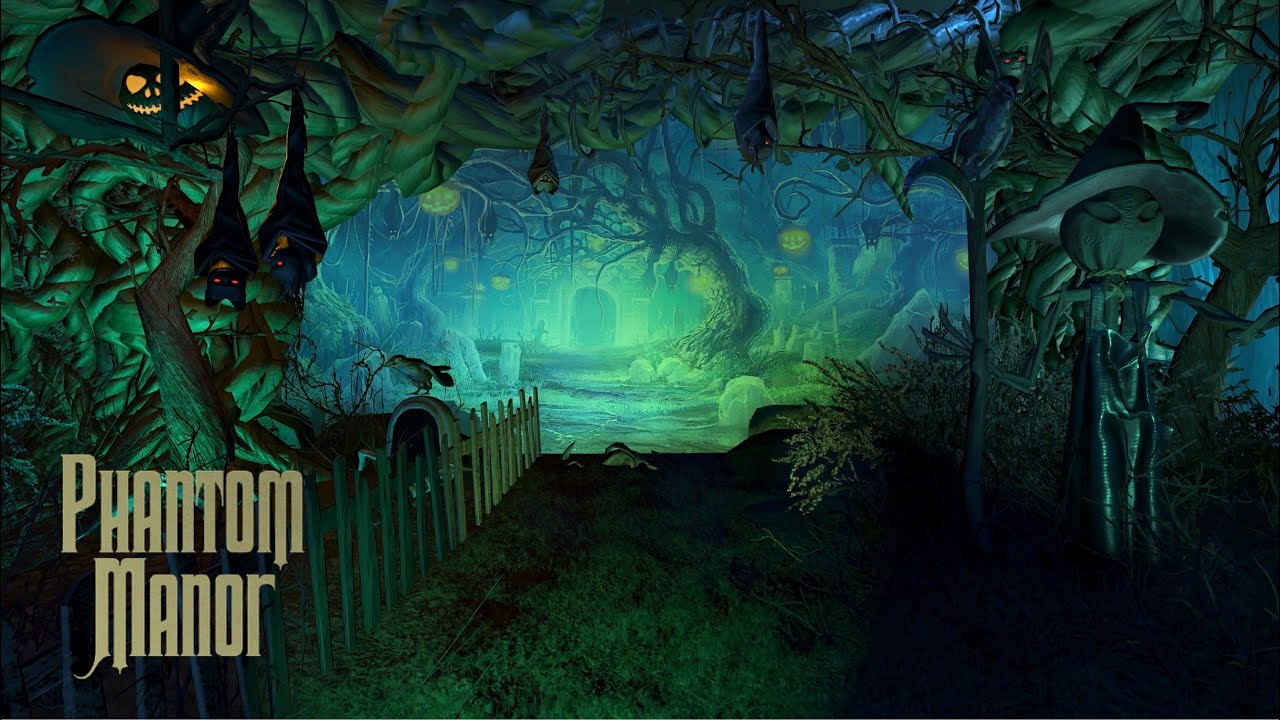 "【Disney】プラネットコースター お化け屋敷  「ホーンテッドマンション・改」/ ""Super Phantom Manor!?"" Dark ride at Planet Coaster"