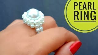 How To Make//A Beautiful Pearl Ring//At Home// Useful & Easy