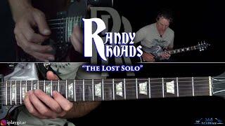 """Randy Rhoads - """"The Lost Solo"""" Guitar Lesson"""
