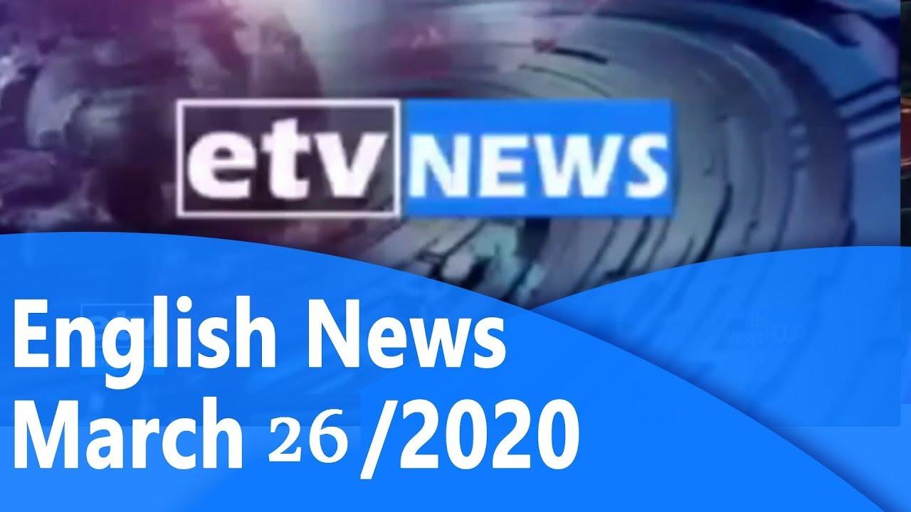 English News Mar 26/2020 |etv