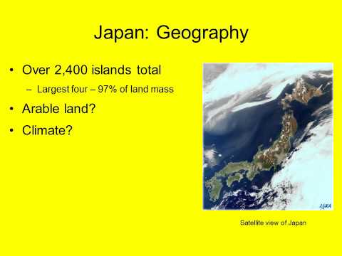 japans culture geography and history The human geography of japan by kieran mclaughlin, ms ed physical geography  cultural geography cont •music japan pop, hip hop, and jazz are popular.
