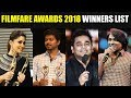 Jio Filmfare Awards 2018 Complete Winners List | Filmfare South 2018 | Tamil Cinema