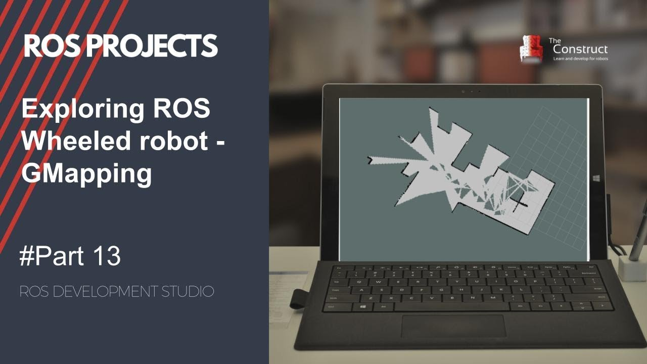 [ROS Projects] - GMapping - Exploring ROS with a 2 wheeled robot - Part 13