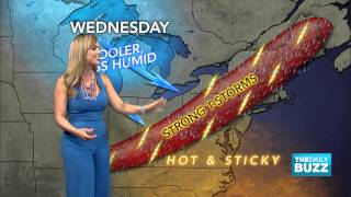 Jessica Gets Suprised by Her Weather Map