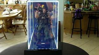 "Acrylic Display Case With Leds For Hot Toys, Enterbay, Sideshow, Medicom, & Other 12"" Figures."
