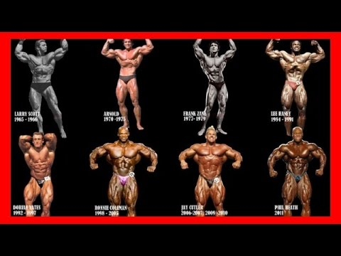 Mr. Olympia All Winners Compilation for all time [1965 - 2016] - Bodybuilding Motivation History