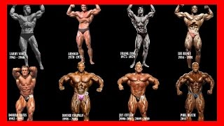 vuclip Mr. Olympia All Winners Compilation for all time [1965 - 2017] - Bodybuilding Motivation History