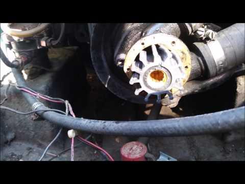 DIY Volvo Penta GM 350 Boat Water Pump Inspection, and Replacement Repair