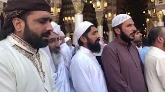 QARI SHAHID MEHMOOD SAHIB MASJID_E_NABAVI SHAREEF MEIN EID MILTEY HUIWEY OR SALAM PARRHTEY HUWE