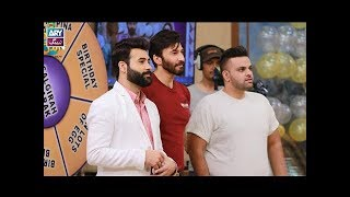 "Faysal Qureshi,Aijaz Aslam,Rose,Aadi & Faizan playing ""Ab To Peena Paray ga"""