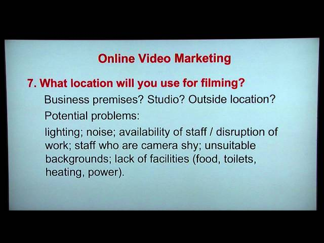 Marketing On A Budget episode 8 Online Video Marketing - Planning Your Online Video