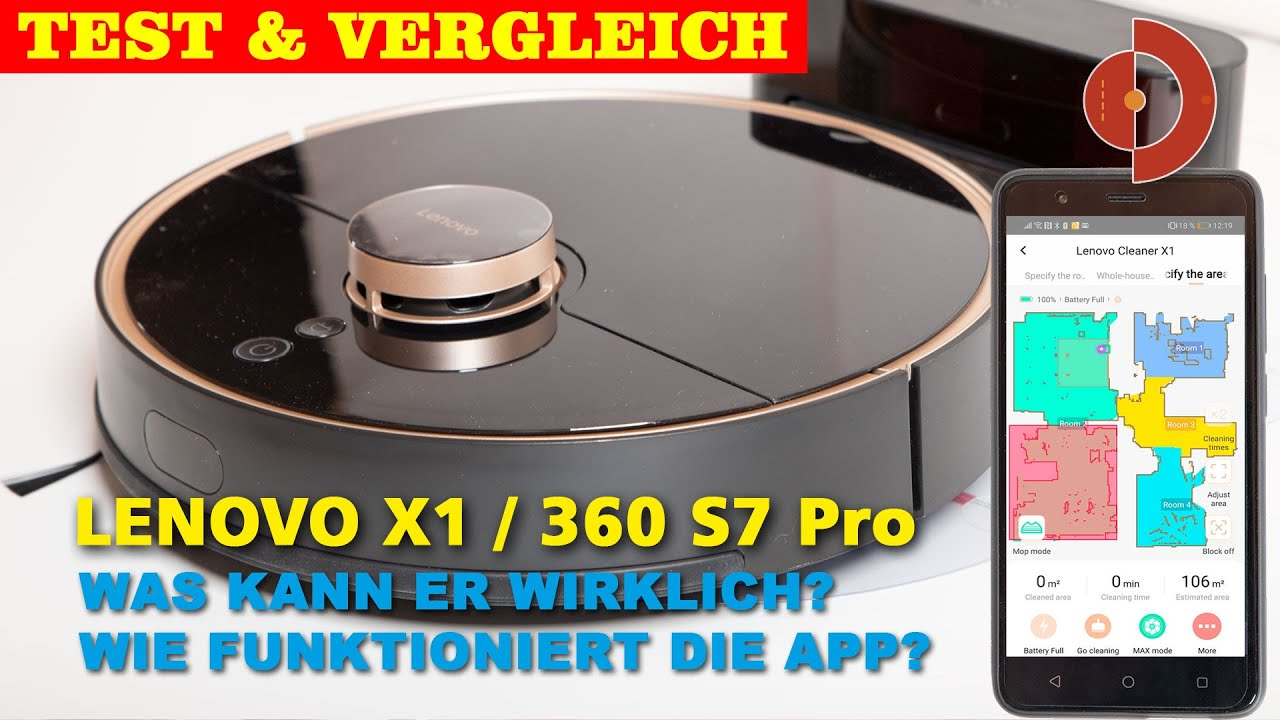Lenovo X1 Test oder auch 360 S7 Pro Test- Teil 1 [ Saugroboter Test]