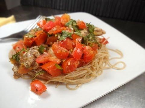 chicken bruschetta with wheat