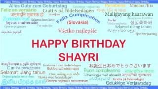 Shayri   Languages Idiomas - Happy Birthday