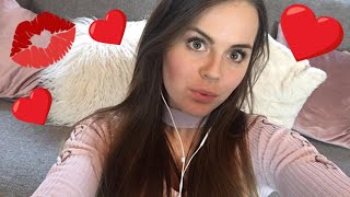 [ASMR] Valentine's Day Livestream!!! ❤️(Kisses, Eating Sounds, Inaudiable Whispering & much more!)