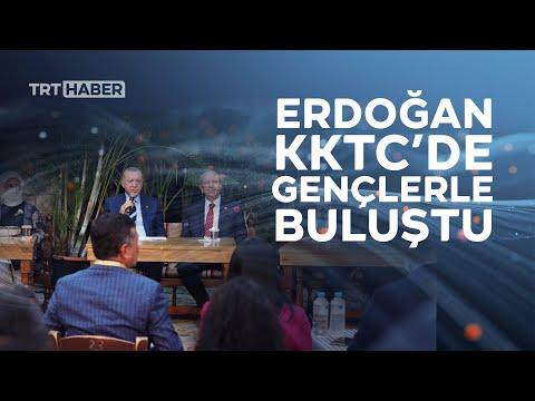 Cumhurbaşkanı Erdoğan KKTC'de gençlerle buluştu