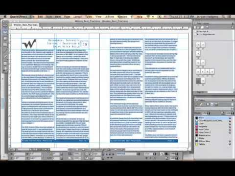 Formatting Pages in QuarkXPress