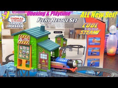 Thomas the Train Fiery Rescue Set Trackmaster. Thomas the Tank Engine Smokes! Toy Trains