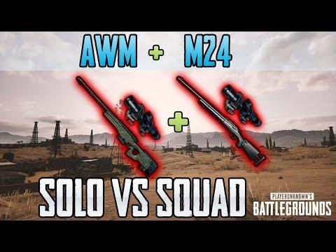 AWM + M24 - Just9n Solo vs Squad FPP [NA] - PUBG HIGHLIGHTS TOP 1